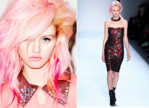 Altura exigida por uma agência de modelos - Com 1,70 de altura e cabelos multicoloridos, Charlotte Free arrasa nas passarelas mundo afora