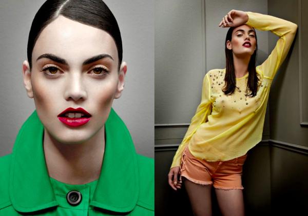 Altura exigida por uma agência de modelos - Djamila Del Pino tem apenas 1,70m de altura mas está em diversos editoriais de moda e capas de revistas