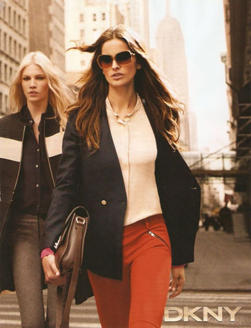 Izabel Goulart contemporânea para DKNY