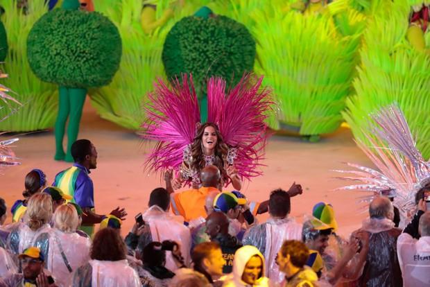 Izabel na cerimônia de encerramento das Olimpiadas no Rio de Janeiro em 2016