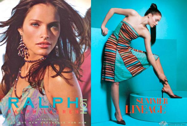 Altura exigida por uma agência de modelos - Lonneke Engel com 1,73m de altura para campanha de moda da Ralph Lauren