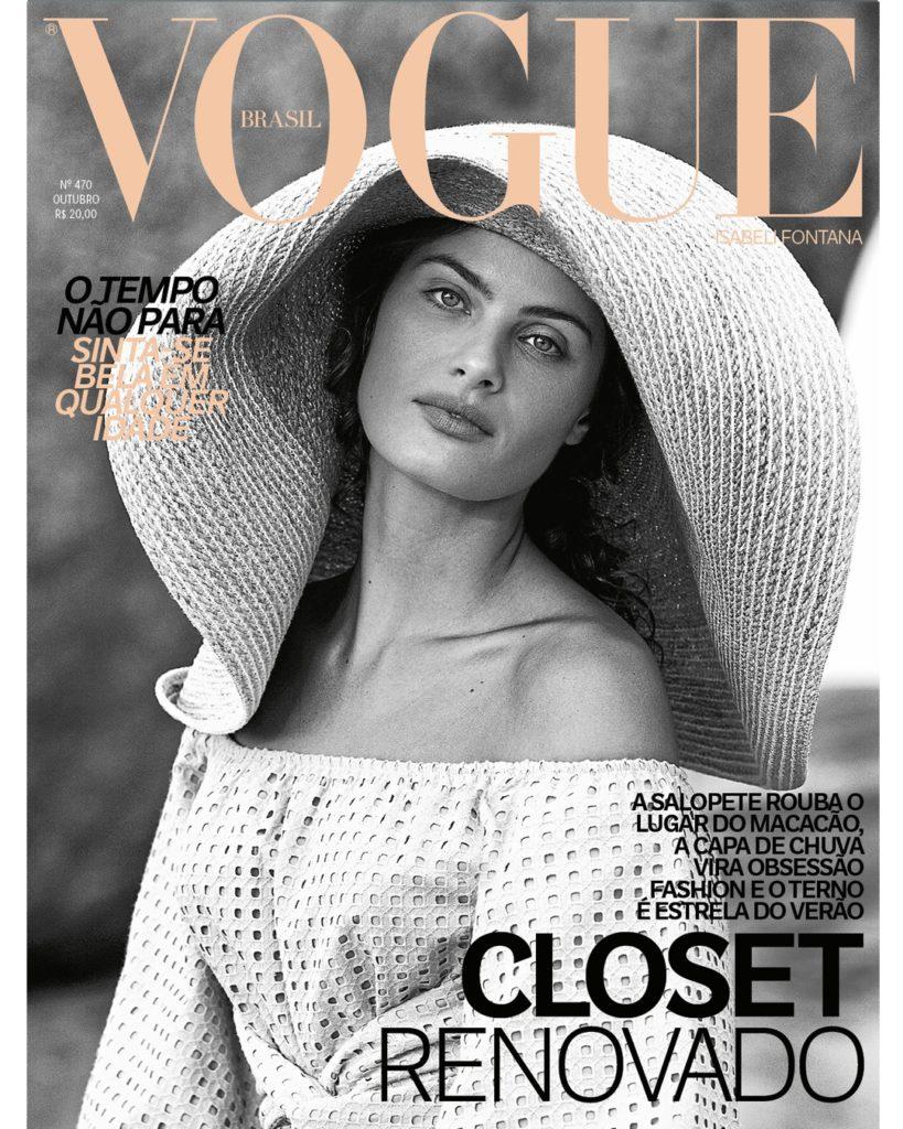 Vogue Brasil de Outubro com Isabeli Fontana