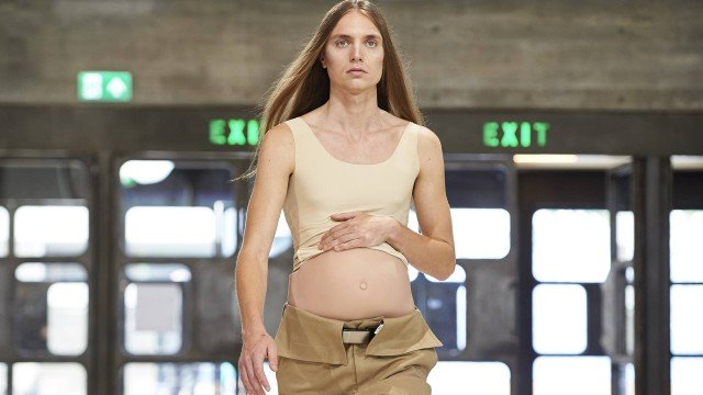 Modelos Masculinos Gravidos no London Fashion week